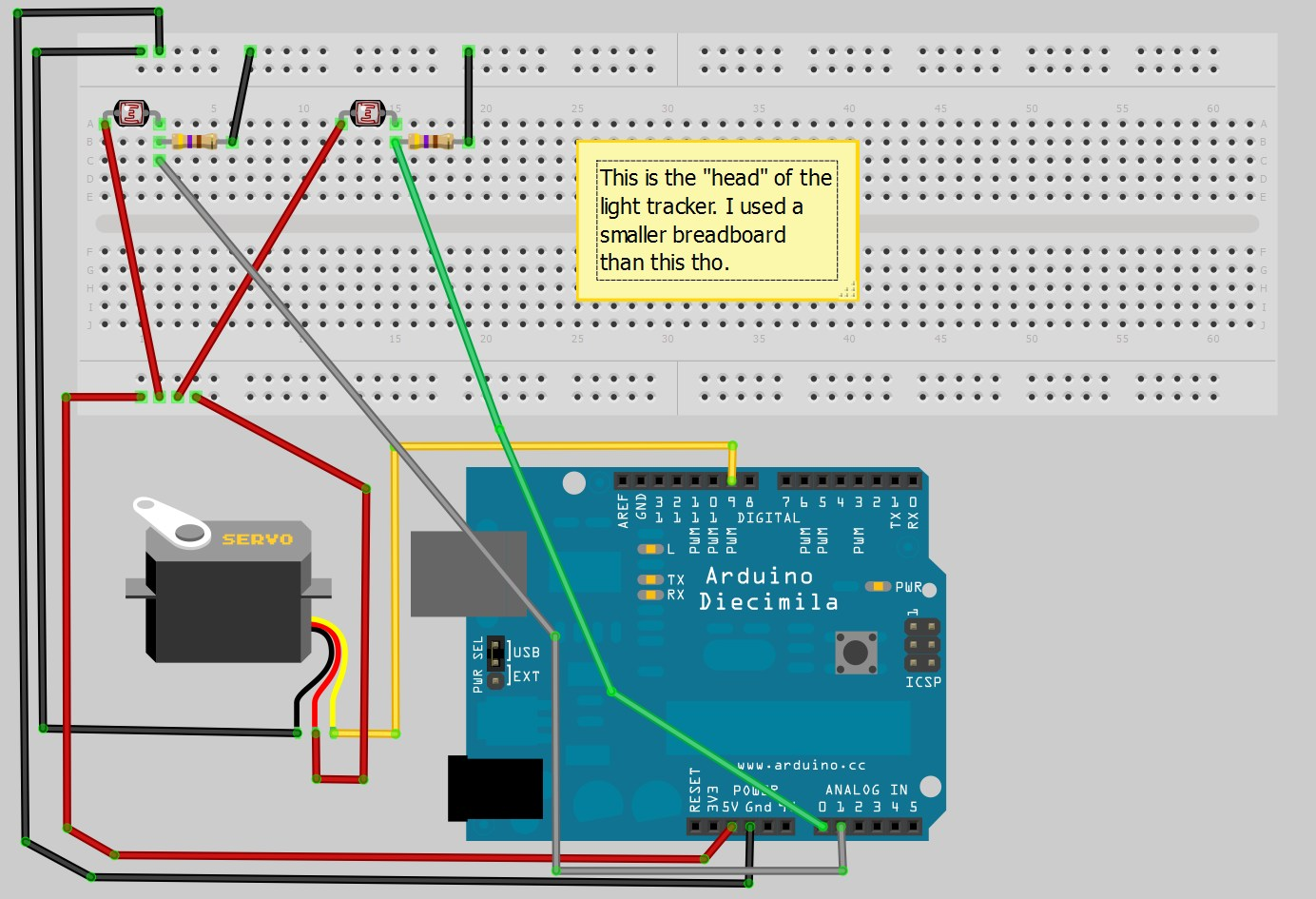 Stigern Net » Blog Archive How to make a light tracker using arduino